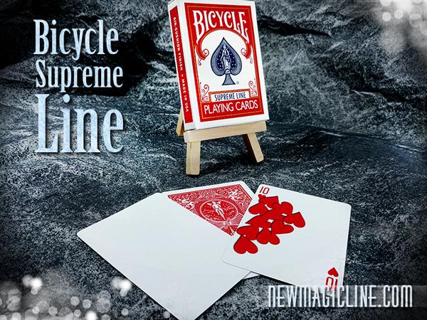 Das neue Bicycle Supreme Line Deck ist 6% dünner als ein normales Bicycle Standard Deck