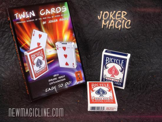 Twin Cards by Joker Magic - Kartentrick