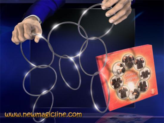 Chinesisches Ringspiel professional (Linking Rings) - Zaubertrick