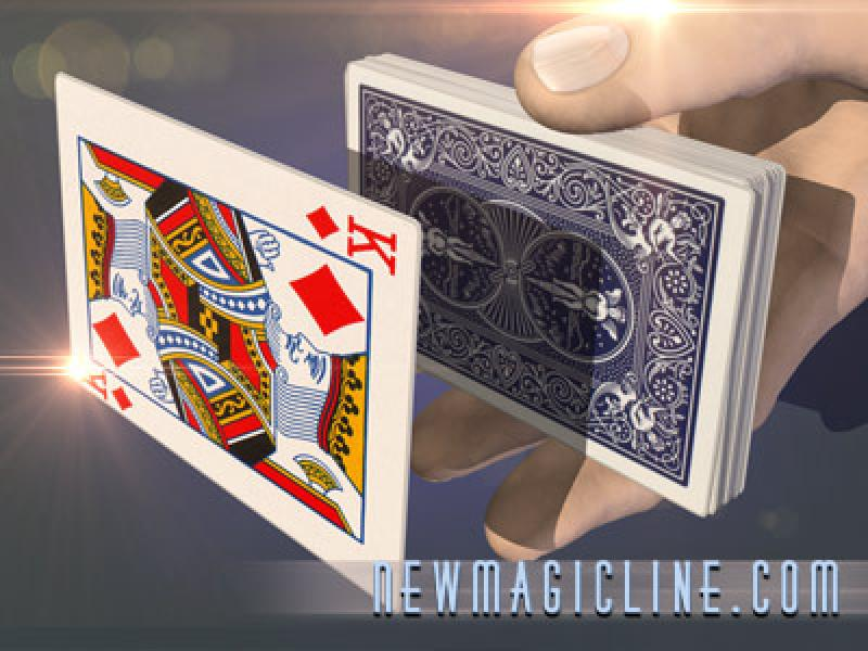 Schwebende Karte Bicycle-Floating Card - Kartentrick