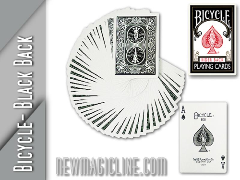 Bicycle Karten Poker Deck - Black Back - Spielkarten