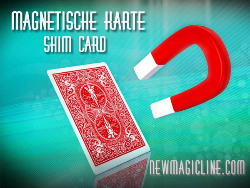 Bicycle Trickkarten Shim Card - die magnetische Bicycle Trickkarten Karte - Zaubertrick